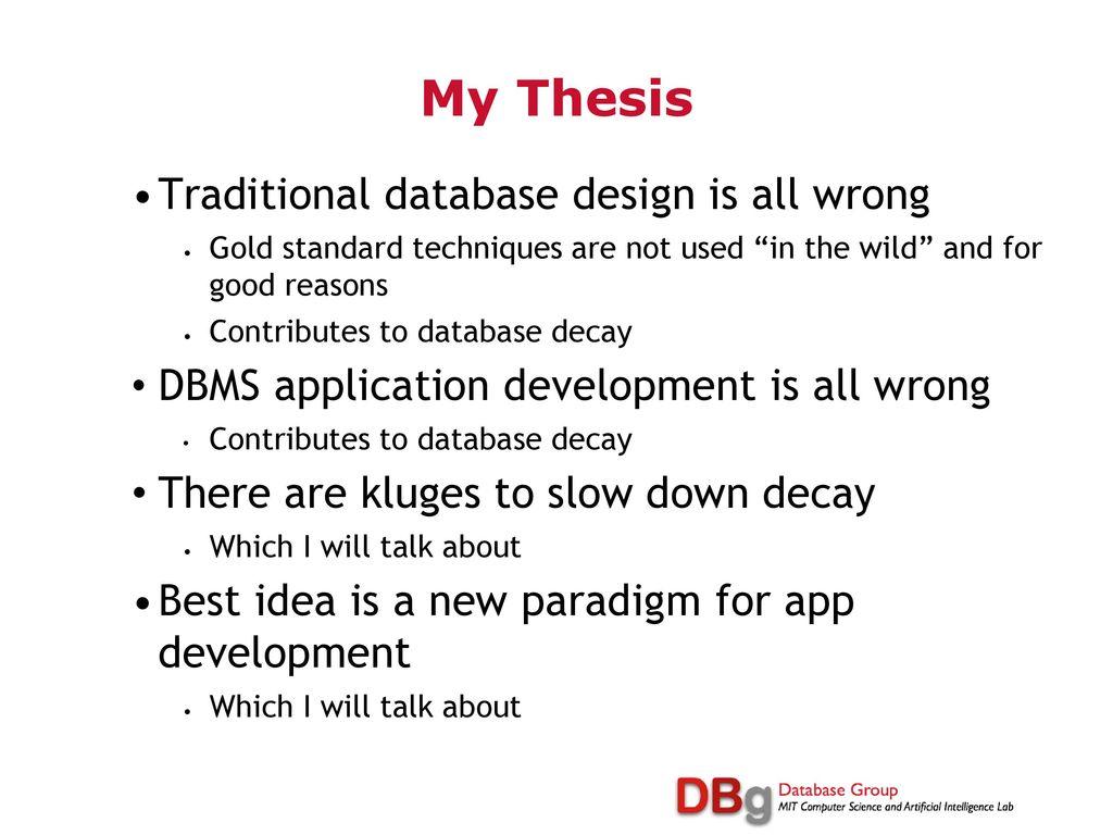 thesis on database development