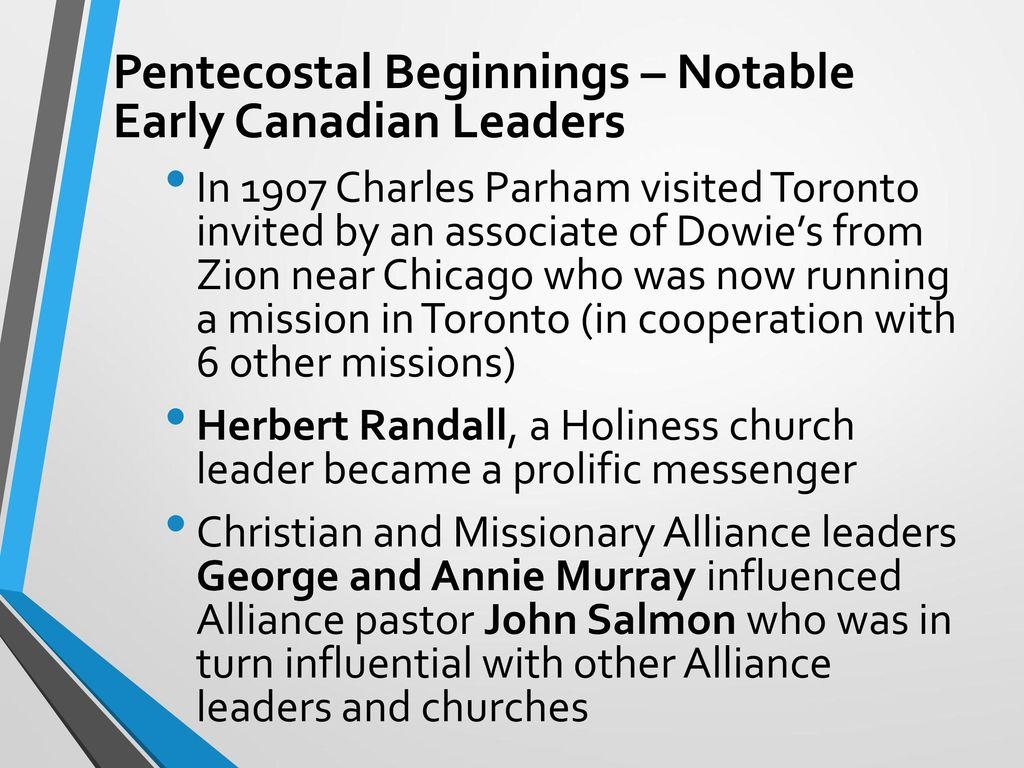 WELCOME HIST 172 C History of Canadian Pentecostals - ppt