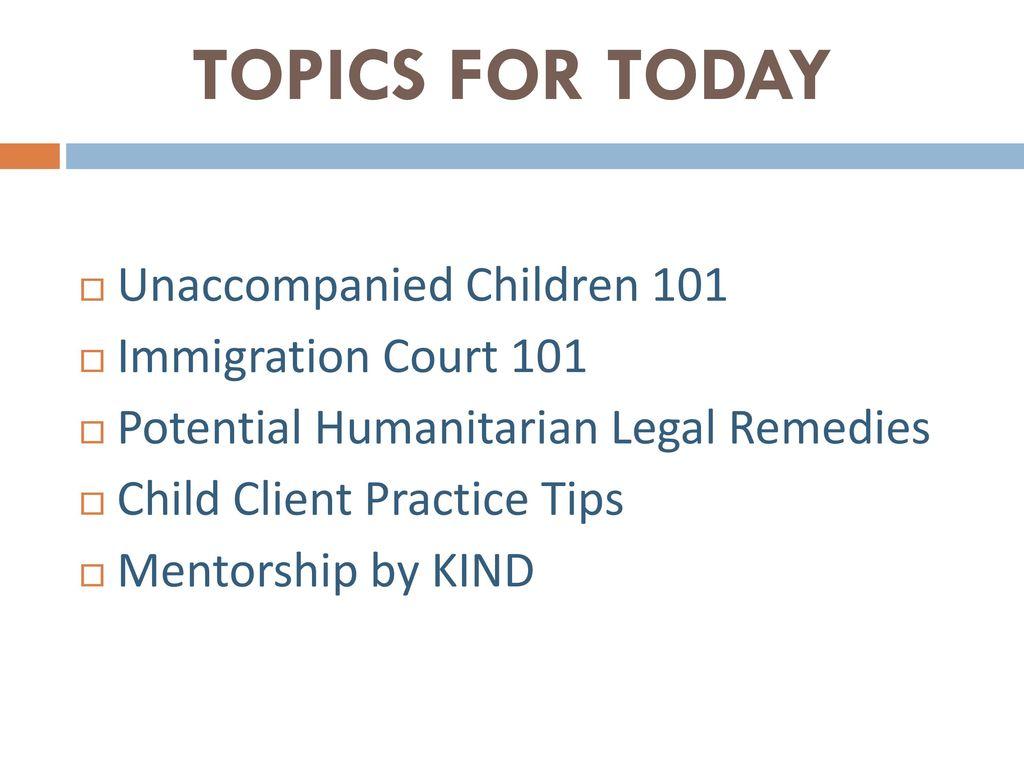 Unaccompanied Children In Immigration Ppt Download