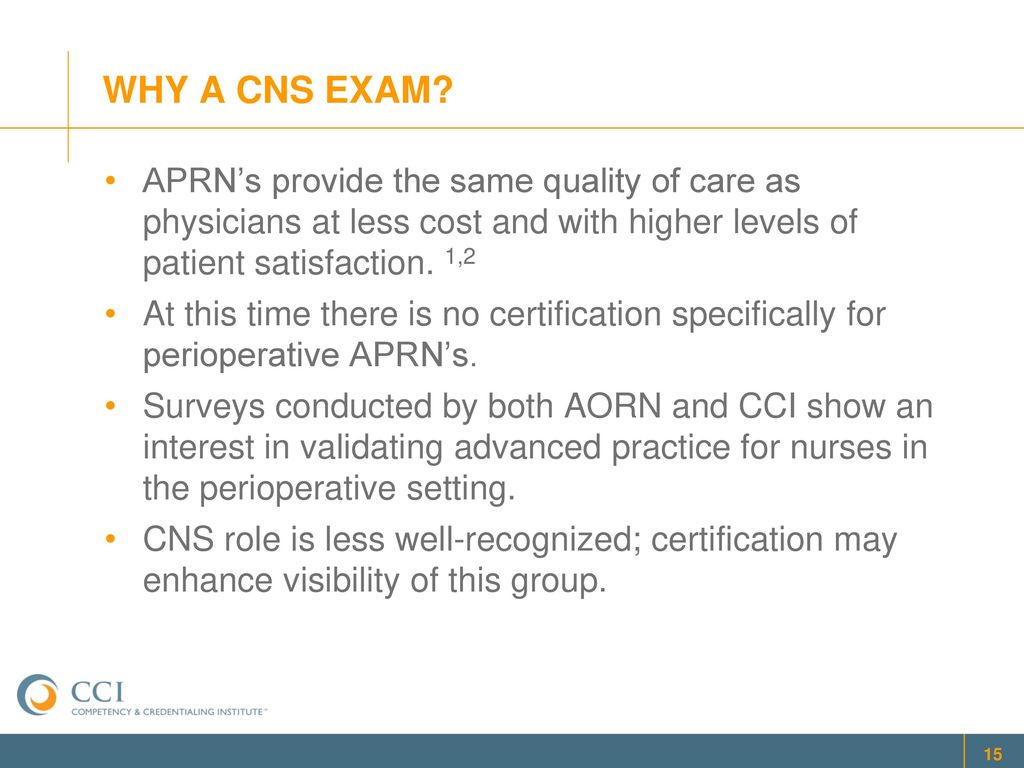 Aprn Specialty Certification Exam For Perioperative Cnss Advisory