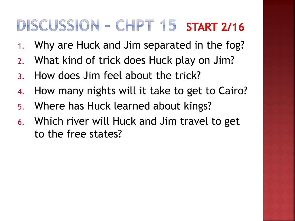 what trick does huck play on jim