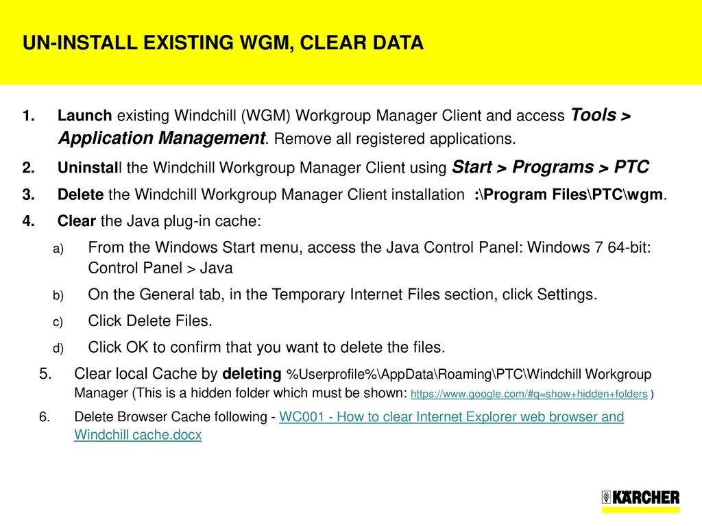 Windchill WorkGroup Manager (WGM) for Inventor installation - ppt