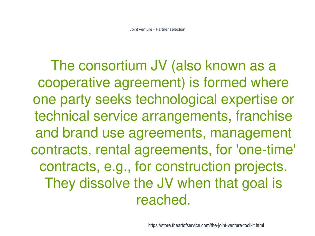 Joint Venture Ppt Download
