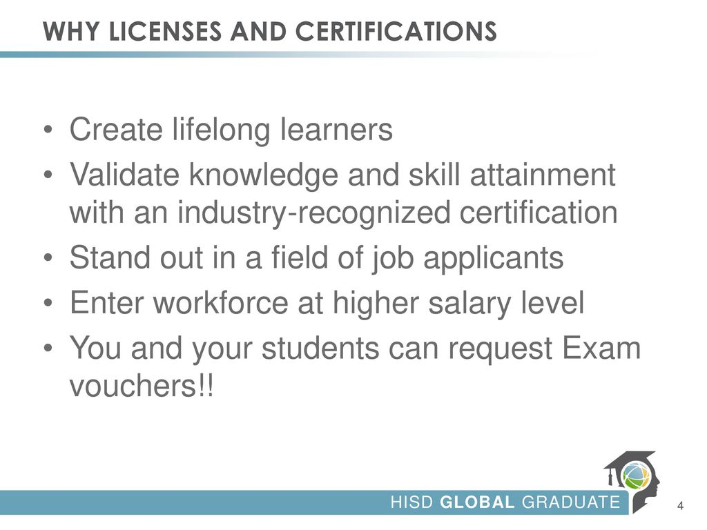 Industry Certifications Licenses Credentials Ppt Download