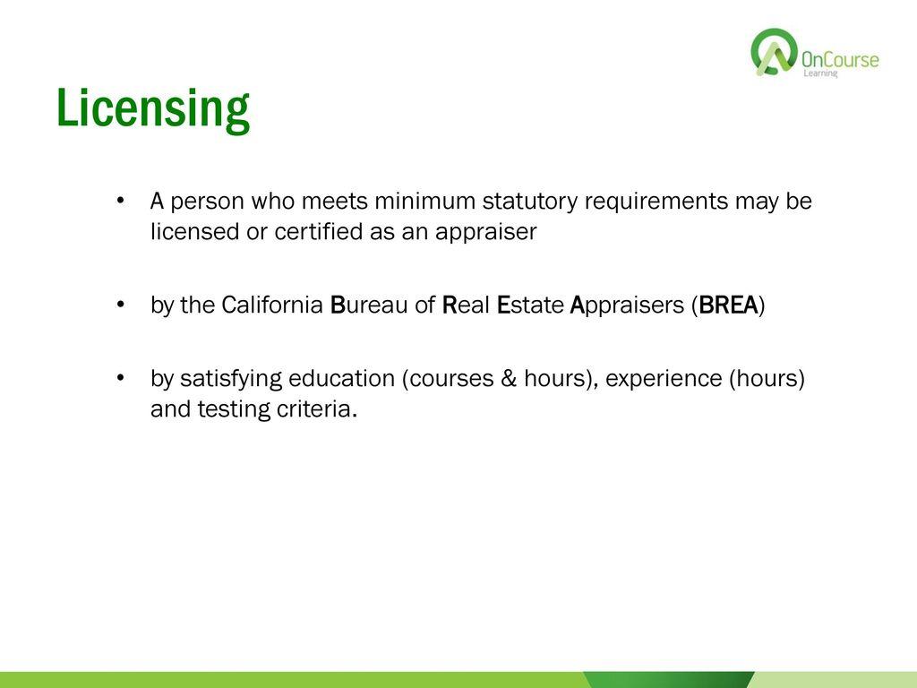 California Real Estate Principles 101 Edition Ppt Download