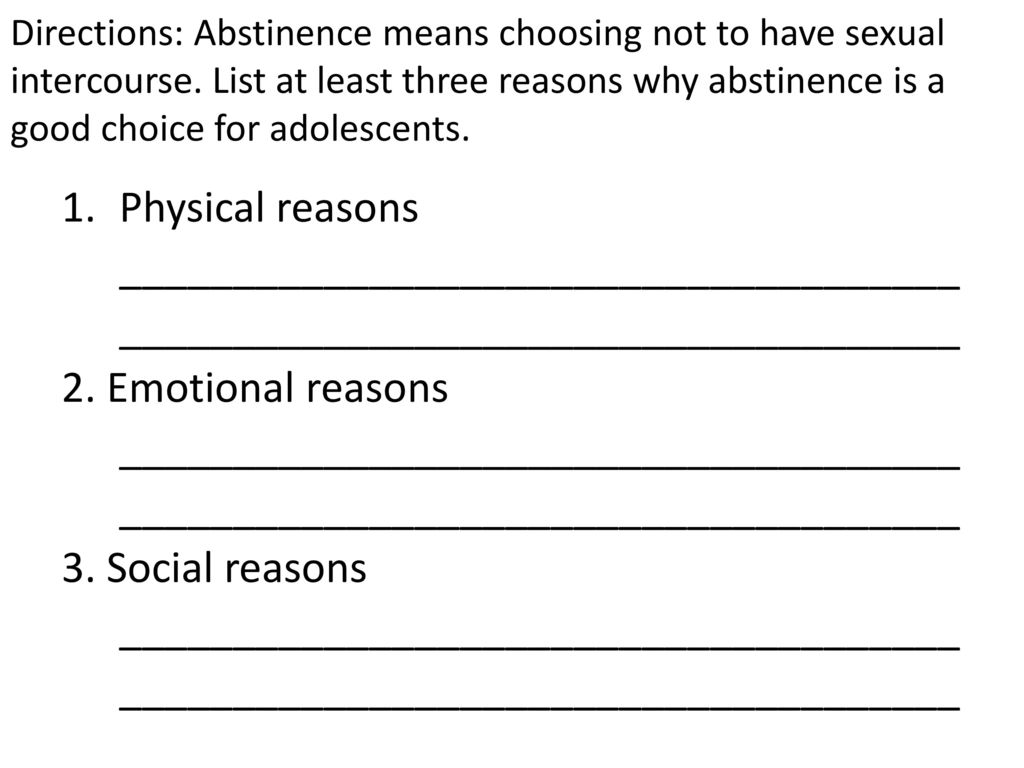 Abstinence good why is Why abstinence