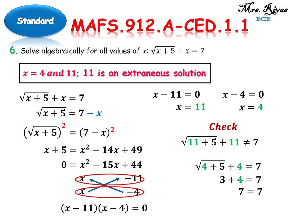 mrs rivas ischs standard mafs 912 a ced ppt download