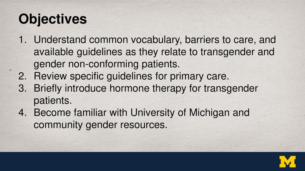 Are Transsexual resources u of mich know nothing