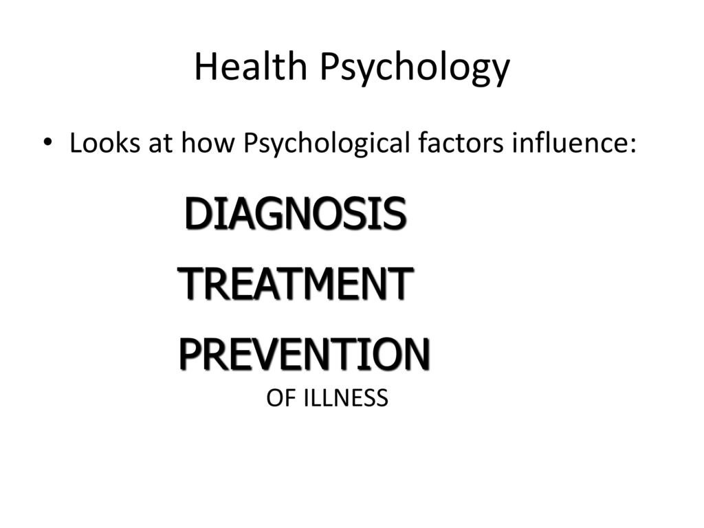 Health Psychology Study Of Social Behavioral Cognitive And