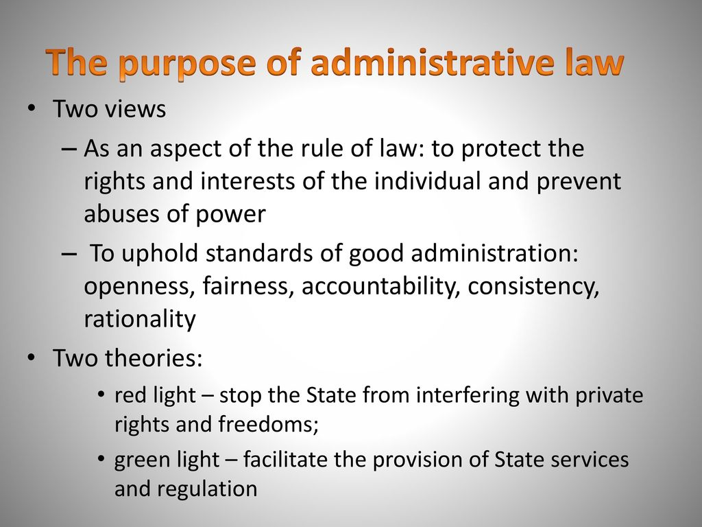 red light theory of administrative law