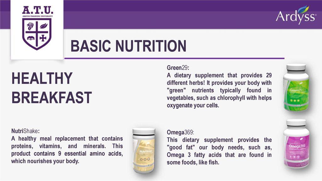 4 Basic Nutrition