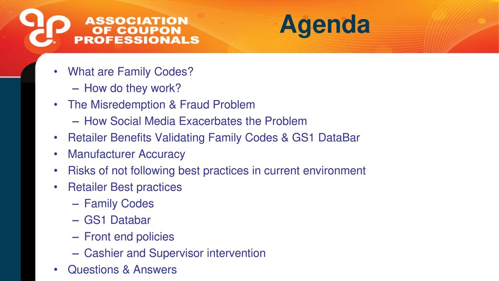 Family codes for retailers ppt video online download agenda what are family codes how do they work fandeluxe Image collections