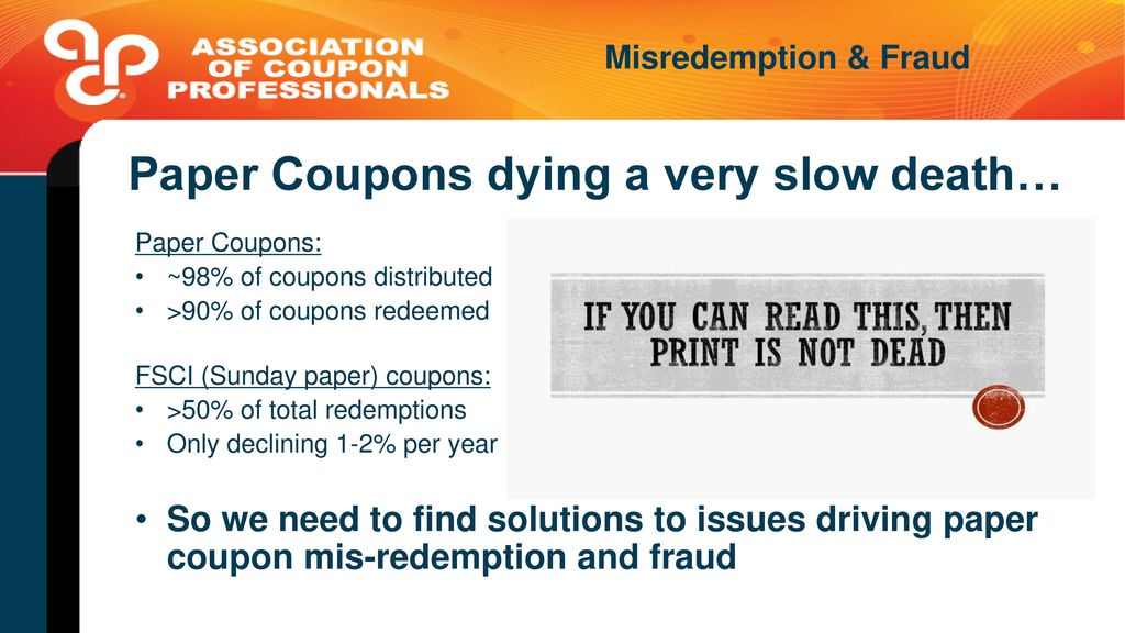 Family codes for retailers ppt video online download paper coupons dying a very slow death fandeluxe Image collections