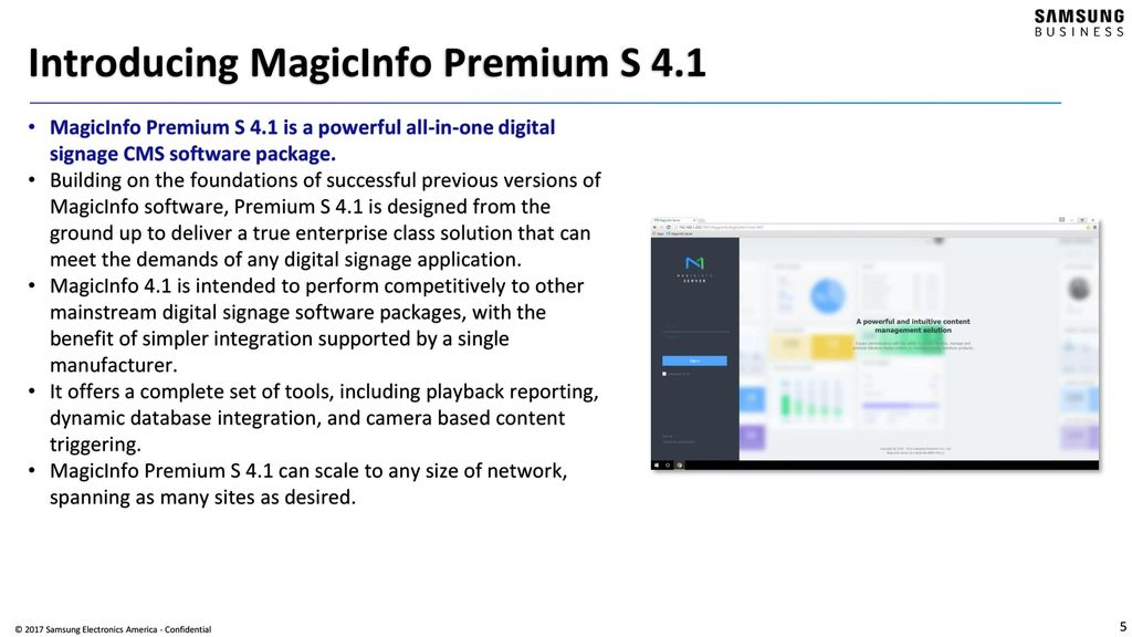 Introducing MagicInfo Premium S ppt video online download