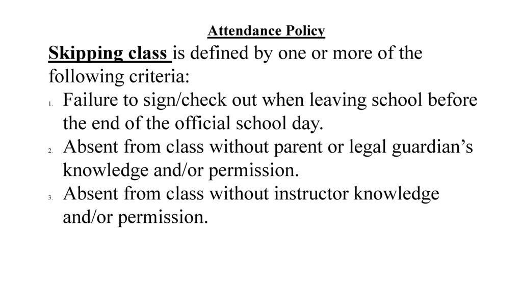 skipping school definition