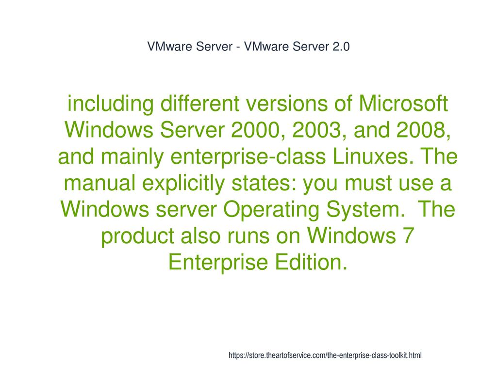 Installing vmware server 2. 0. 2 on windows7.