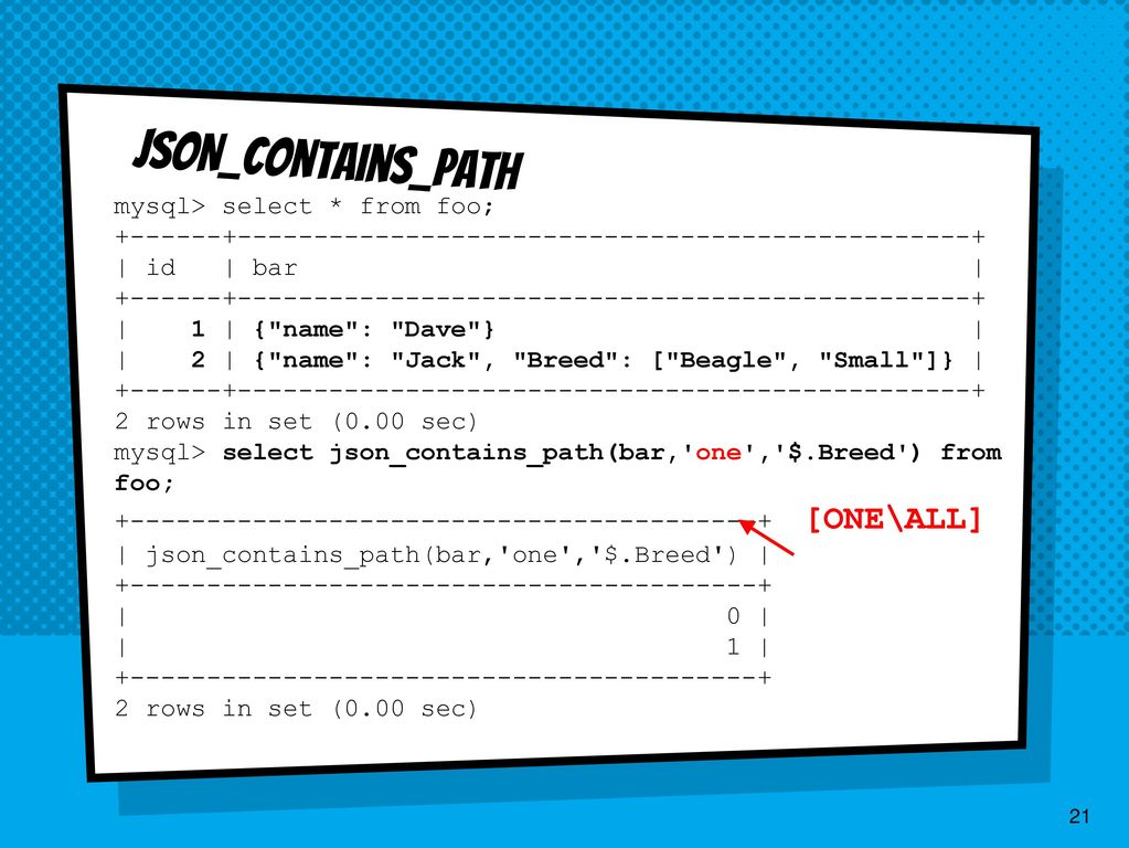 MySQL's JSON Data Type Practical Guide - ppt download