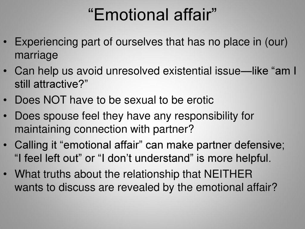 am i in an emotional affair