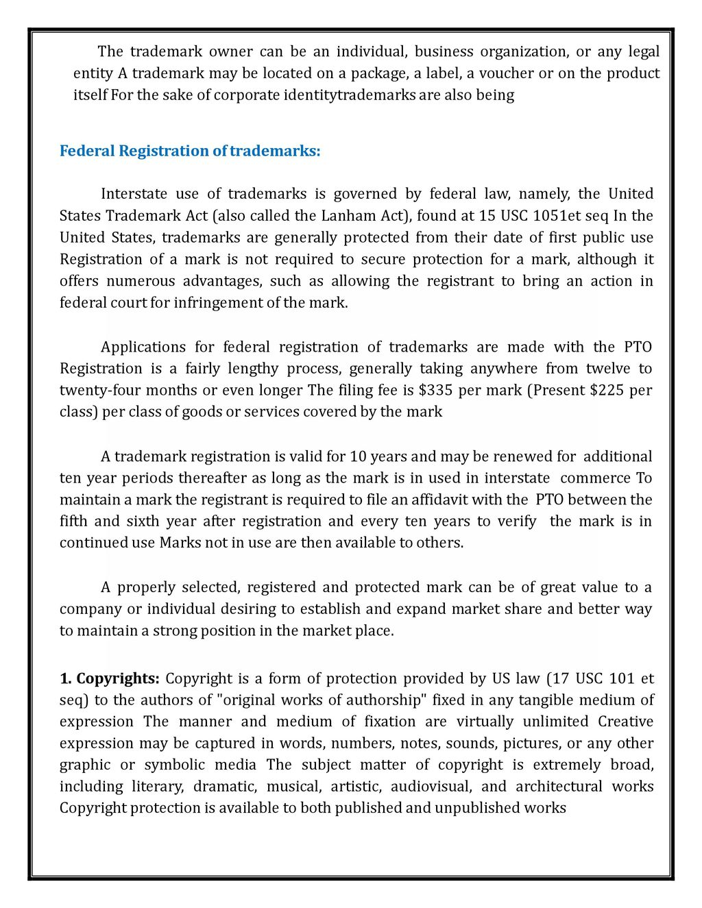 INTELLECTUAL PROPERTY RIGHTS LECTURE NOTES  - ppt download