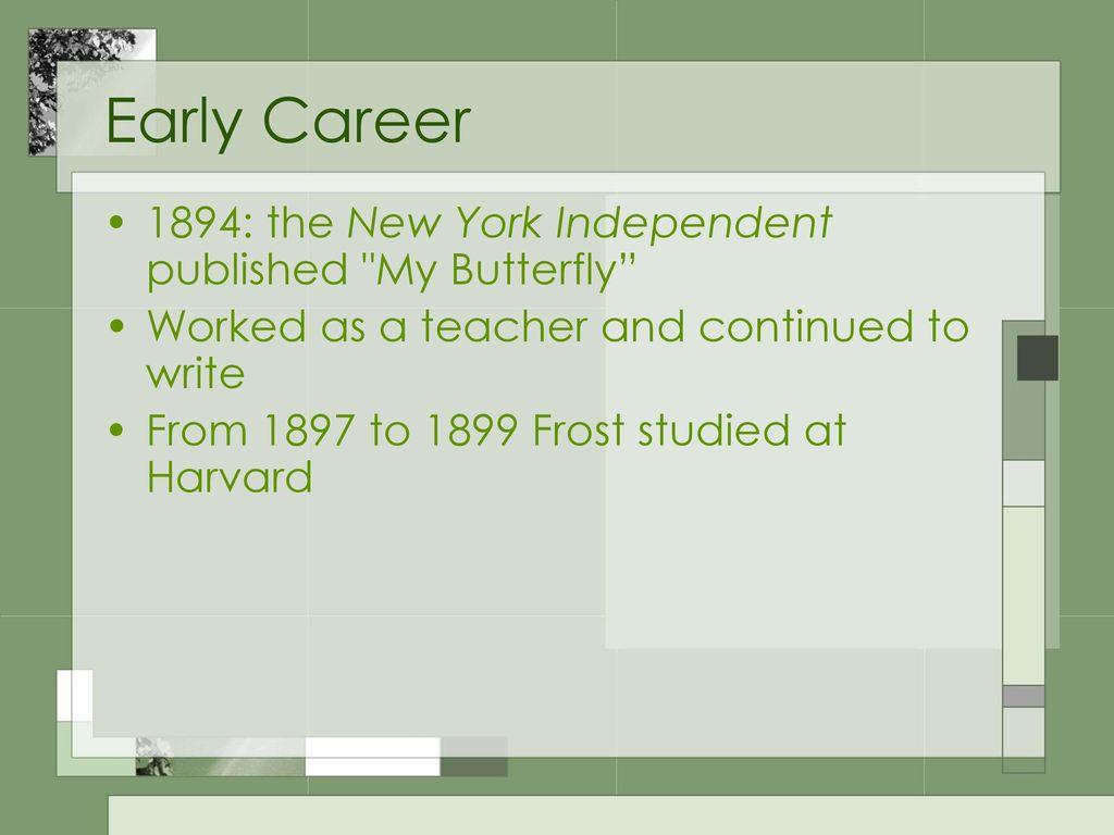 my butterfly robert frost