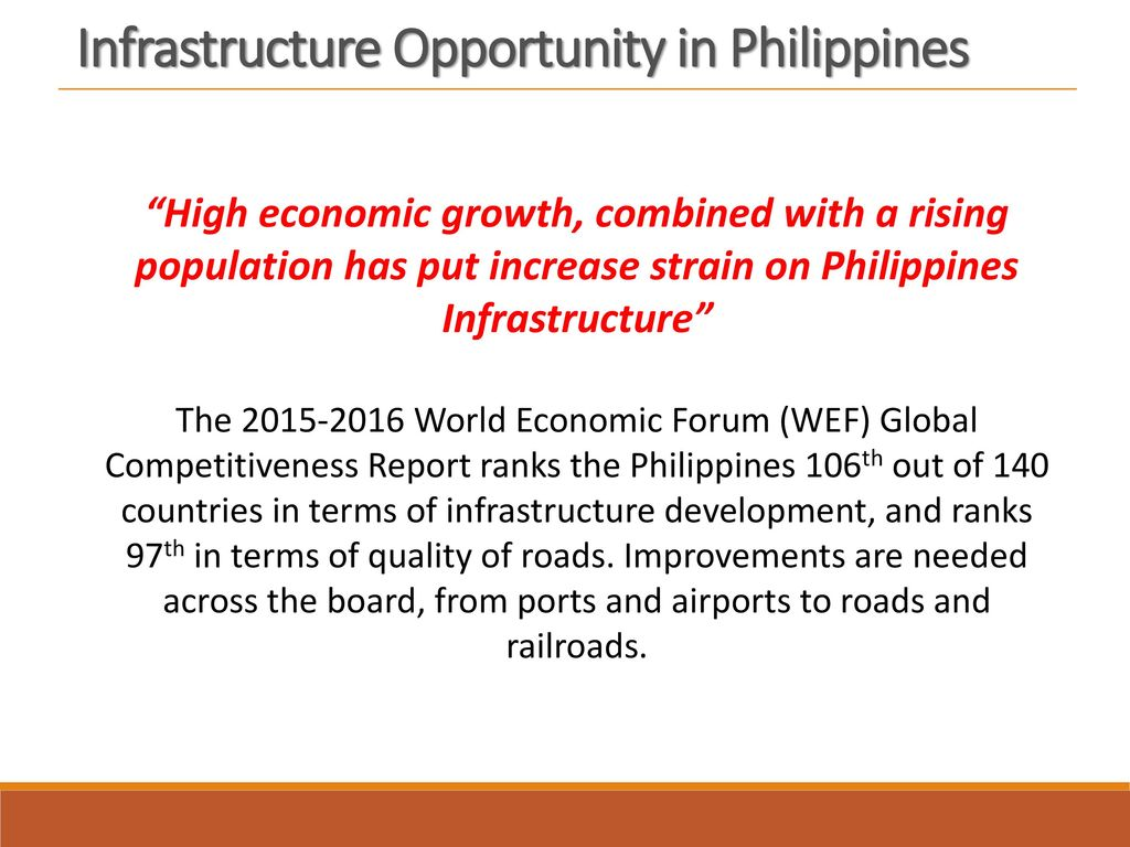 Infrastructure Opportunity in Philippines