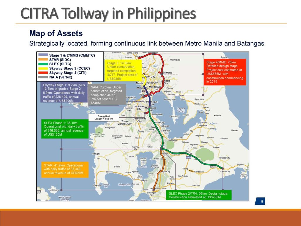 CITRA Tollway in Philippines