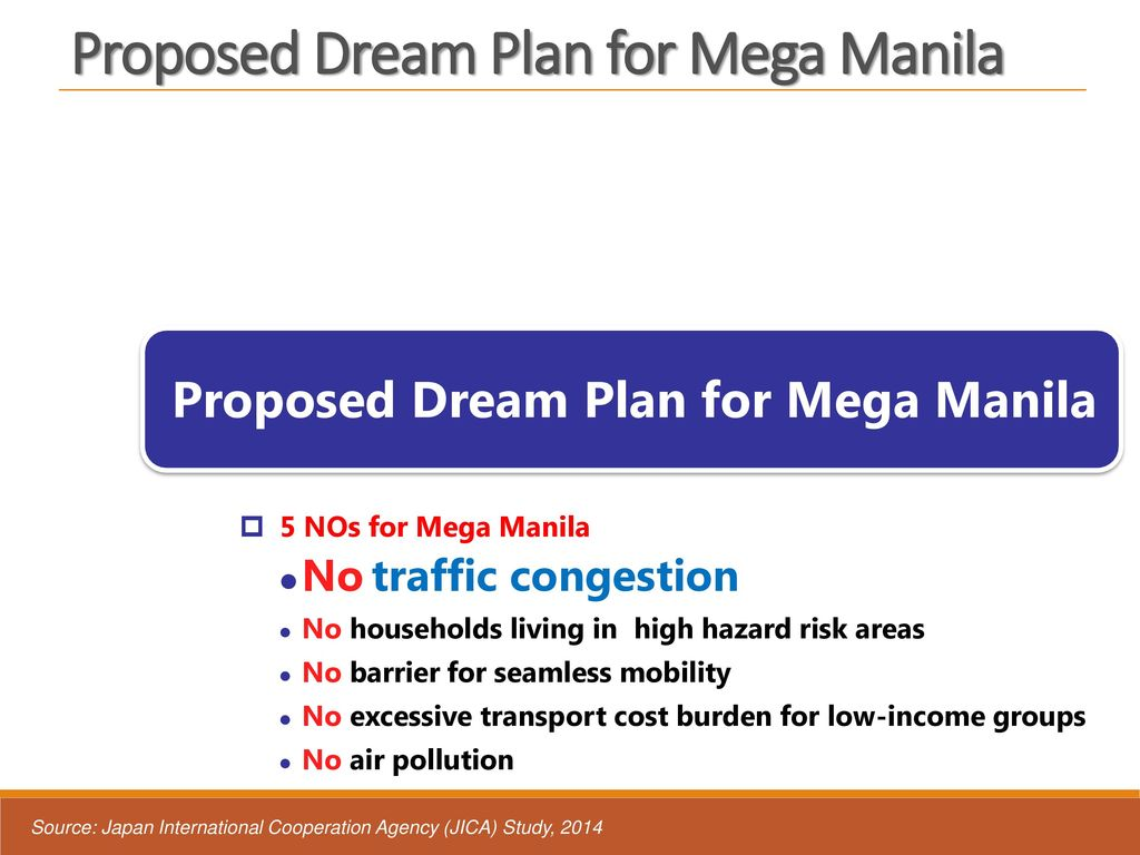 Proposed Dream Plan for Mega Manila