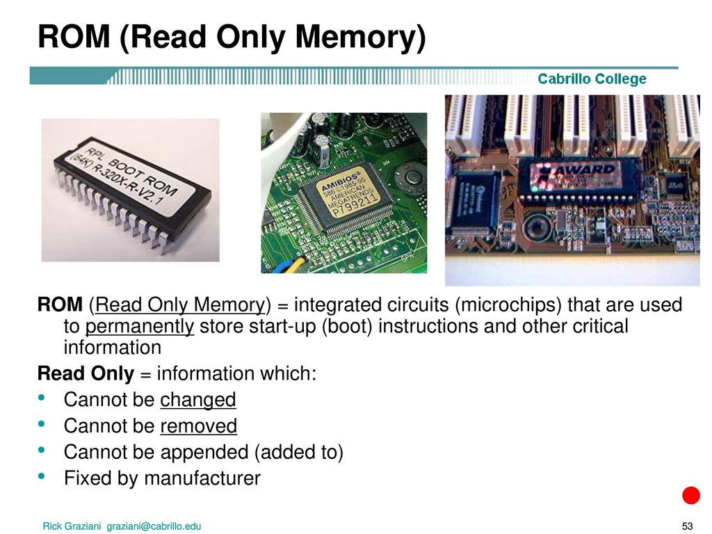 1 Early Computing And 2 Electronic Ppt Video Online Integrated Circuits Suppliers Images Of 53 Rom Read Only Memory