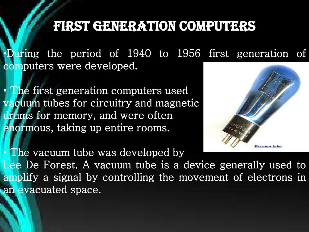 information about 1st generation computer