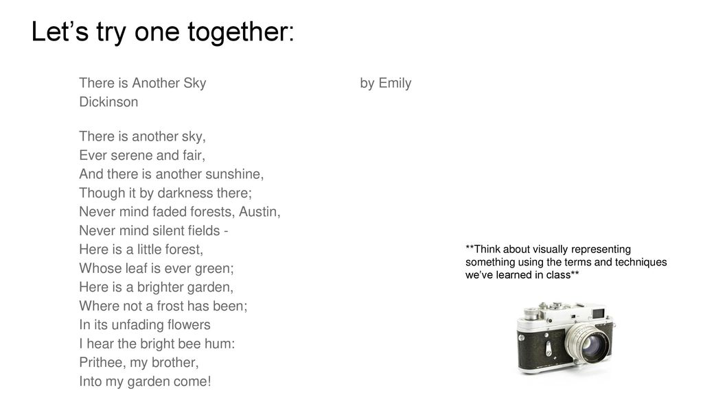 there is another sky emily dickinson meaning
