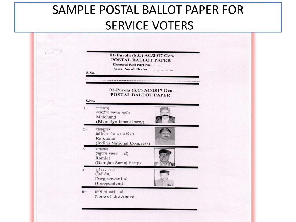 How to get postal vote in india