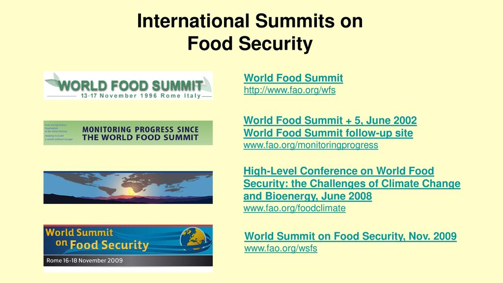 Useful Links on Food Security issues - ppt download