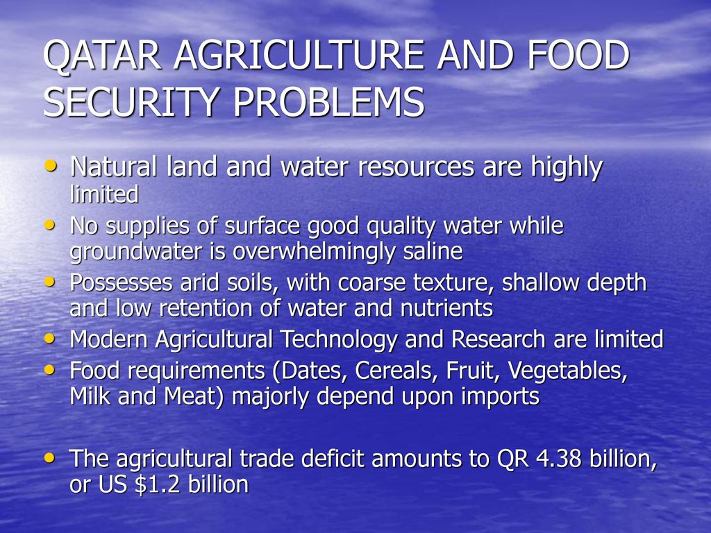 QATAR AGRICULTURE AND FOOD SECURITY - ppt download
