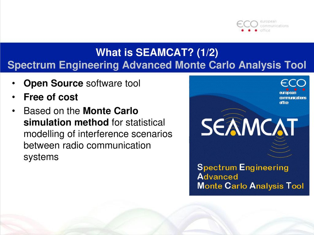 Brief overview of SEAMCAT Spectrum Engineering Advanced