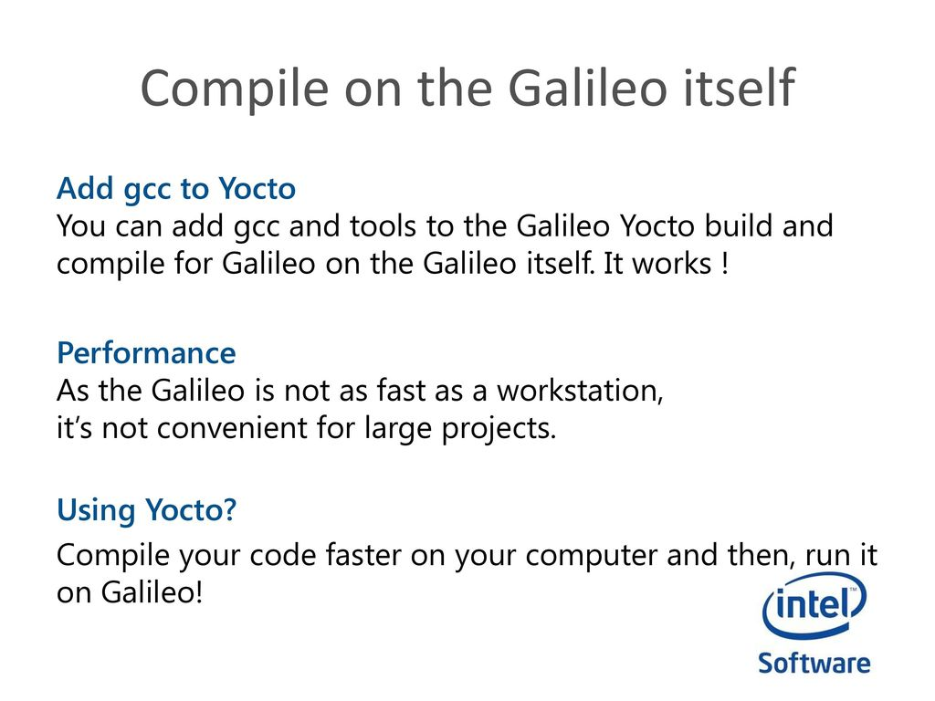 Intel Do-It-Yourself Challenge Compile C/C++ for Galileo - ppt download