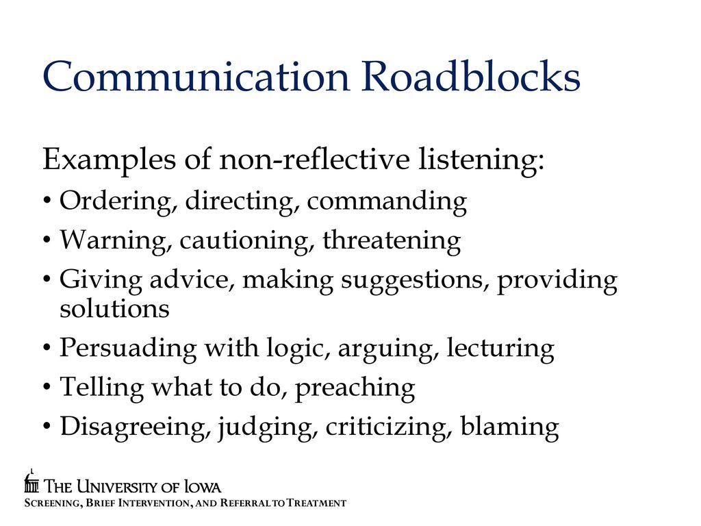 Reflective listening formula skills for communicating with those.