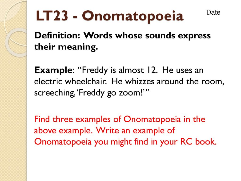 Onomatopoeia Definition Examples Images Example Cover Letter For