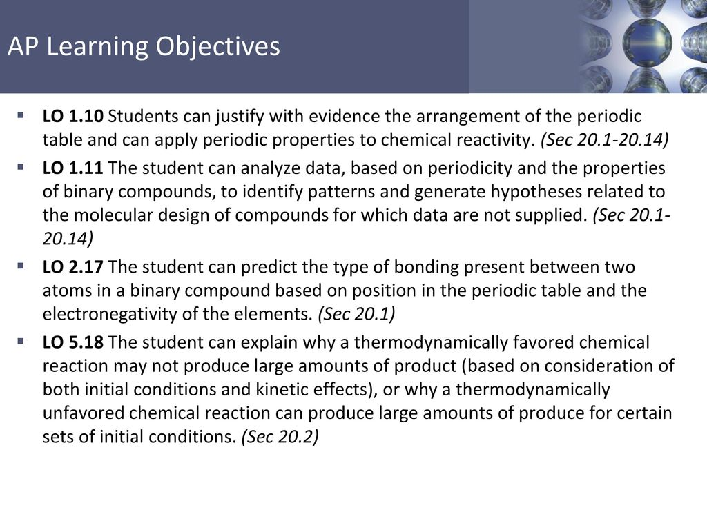 Lo 110 students can justify with evidence the arrangement of the lo 110 students can justify with evidence the arrangement of the periodic table and can apply periodic properties to chemical reactivity sec urtaz
