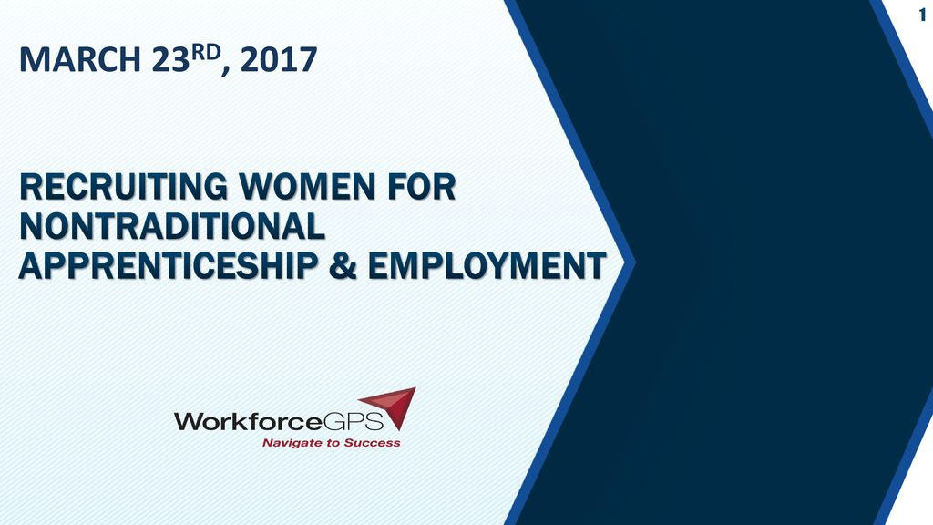 RECRUITING WOMEN FOR NONTRADITIONAL APPRENTICESHIP & EMPLOYMENT