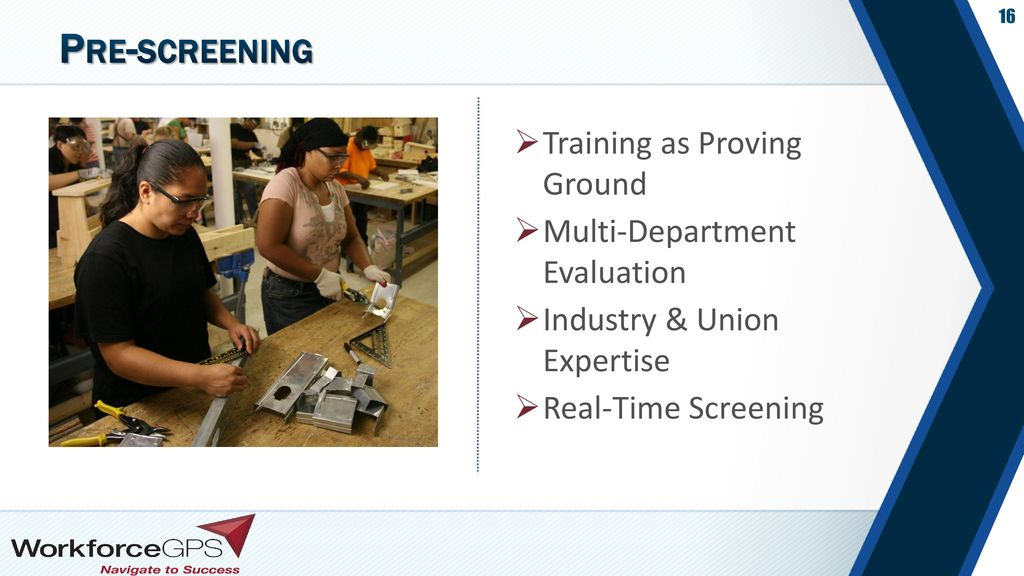 Pre-screening Training as Proving Ground Multi-Department Evaluation