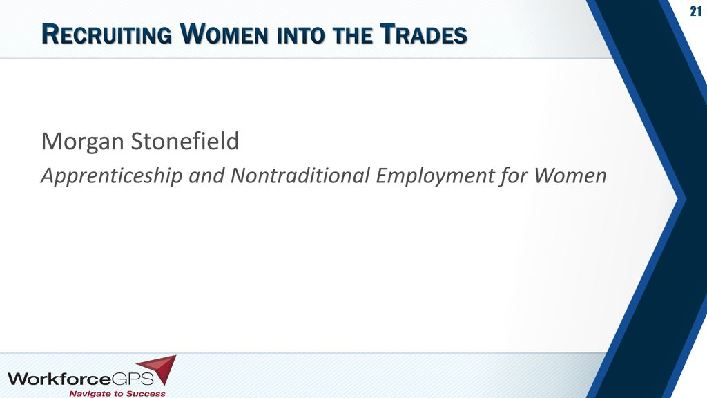 Recruiting Women into the Trades