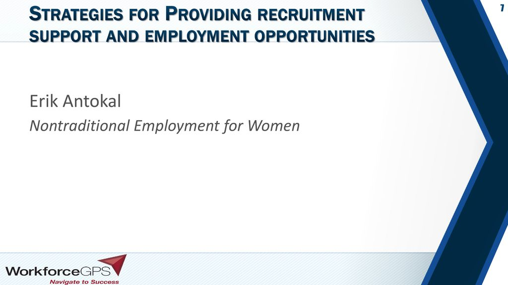 Strategies for Providing recruitment support and employment opportunities