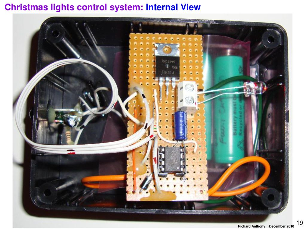 19 christmas lights control system