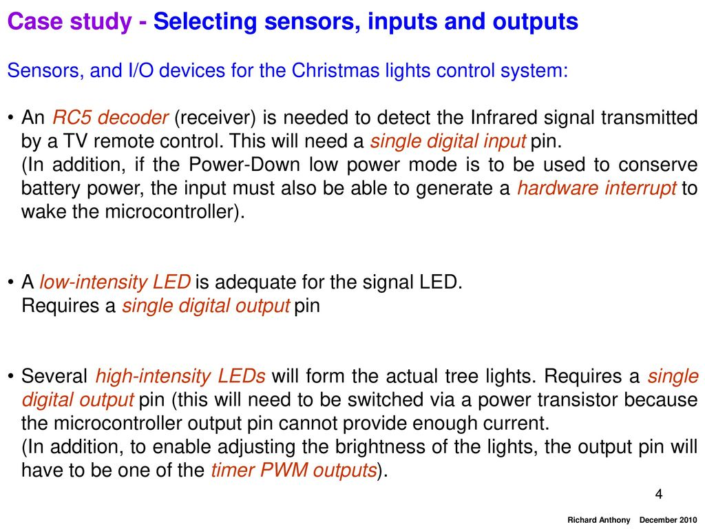 Application Case Study Christmas Lights Controller Ppt Video Light Wiring Diagram 3 Wire Additionally Led 4