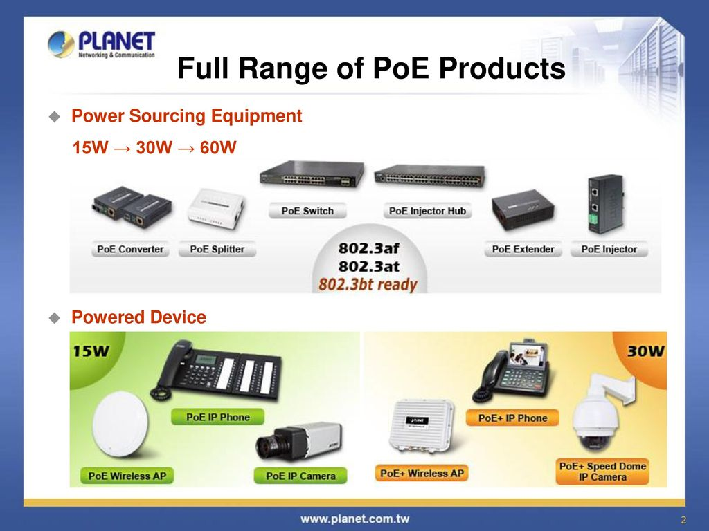 Power Over Ethernet Poe Solution Ppt Video Online Download Diagram Midspan Equipment Full Range Of Products