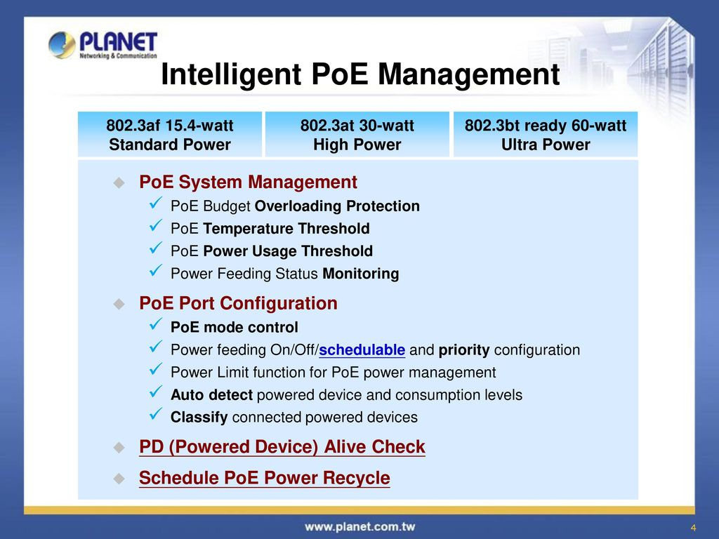 Power Over Ethernet Poe Solution Ppt Video Online Download Diagram Midspan Equipment Intelligent Management