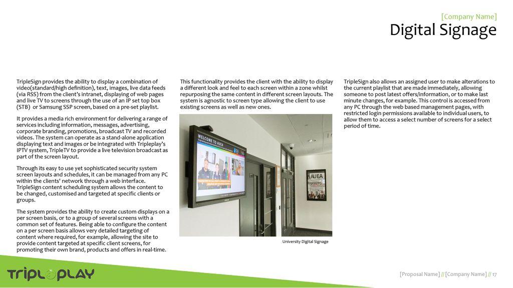 digital signage advertising proposal