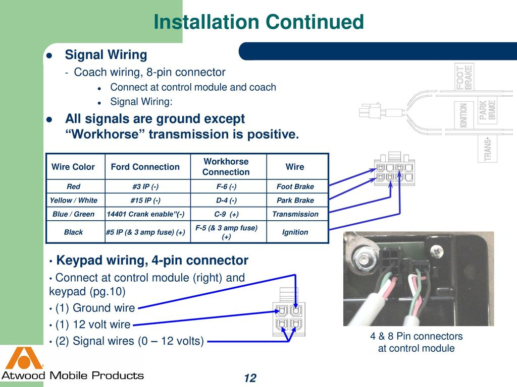 Auto Position Levelegs Ppt Download Workhorse Parking Light Wire Diagrams 12 Installation Continued Signal Wiring