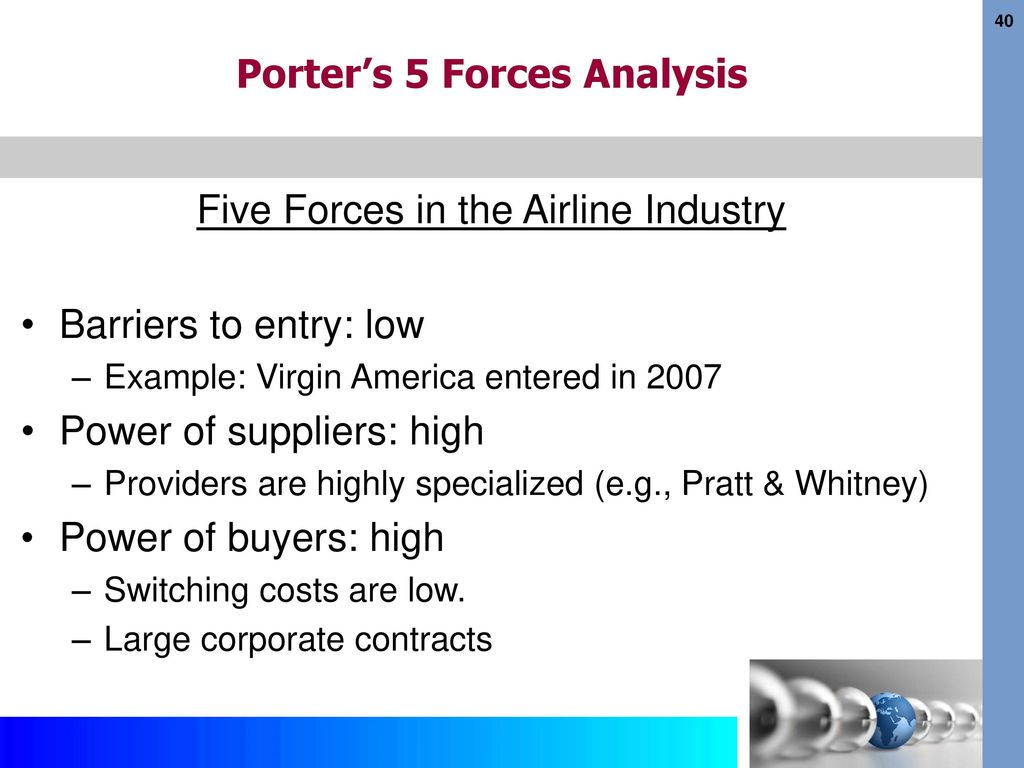 5 forces model airline industry