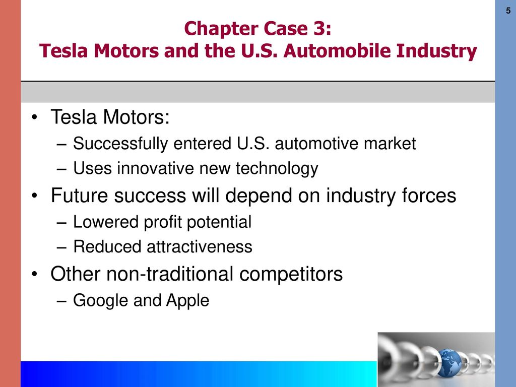 Chapter Case 3: Tesla Motors and the U S  Automobile